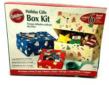 Wilton Holiday Gifts Box Kit Cookie Box Set Of 6 Various Sizes
