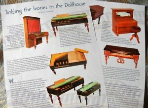 4p History Article  - Antique Tynietoy & German Doll House Piano Miniatures