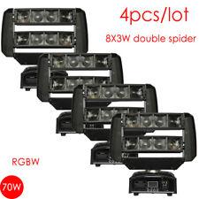 4-Pack 8X3W Mini LED Double Spider Moving Head Light Led Party Light DJ disco