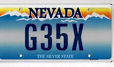One G35X REAL Nevada DMV License Plate NOS NEW Authorized Infinity Car w/ bonus