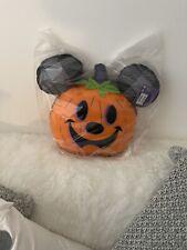 More details for halloween walt disney world mickey mouse pumpkin cushion new