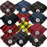 """Scottish Kilts Fly Plaid Tartan Acrylic Wool 48"""" x 48"""" Kilt Pin & Brooch Free"""