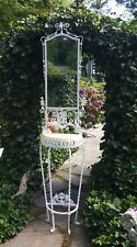 Victorian Cast & Wrought Iron Shaving  Stand /Hall Tree with  marble top