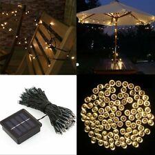 Solar Batterie LED Lichterkette Garten Außen Draht Innen Weihnachten Warmweiß