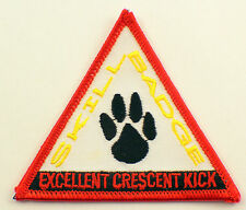 Martial Arts Embroidered Uniform Patch Skill Badge Excellent Crescent Kick Msrd