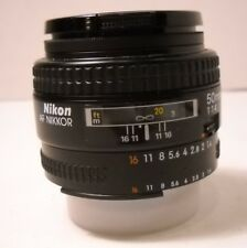 Nikon NIKKOR 50mm f/1.4 AF Lens with Nikon L37c UV Filter - Vintage (C11)