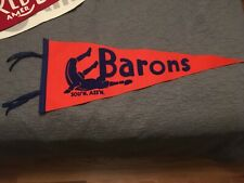 VTG Birmingham Barons Full Size Pennant Ebbets Field Flannels retro Wool RARE.