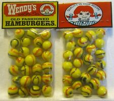 2 Bags Of Wendy's Old Fashion Hamburgers Promo Marbles