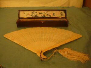 Antique Chinese Fan with original box