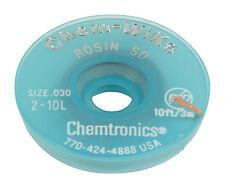TRESSE A DESSOUDER 0.8 mm 3 M CHEMTRONICS ULTRA FINE GRIS CHEM WIK M1 2-10L