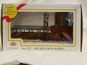 Model Power 572 Steam Loco Supply HO Scale Lighted with 2 Handpainted Figures
