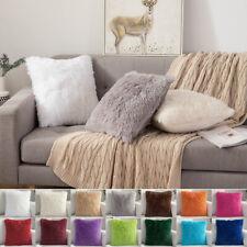 18''*18'' Luxury Shaggy Fur Pillow Cases Fluffy Plush Throw Sofa Cushion Cover