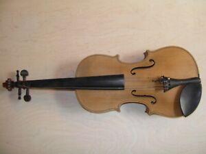 4/4 Geige ohne Zettel unlackiert old violin reparaturbedürftig Violine