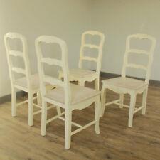 Set de 4 crème style rustique Chaise salle à manger Ferme Maison meubles chambre