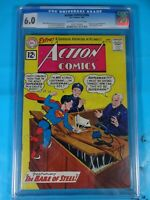 CGC Comic graded 6.0 DC Action Comics #284 Key atomic explosion panel
