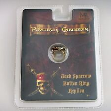 Pirates Of The Caribbean Jack Sparrow Button Ring Replica (Master Replicas) New