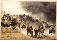(PRL) CAVALCATA CAVALLI CHEVAUX HORSES COWBOYS AFFICHE POSTER PRINT COLLECTION