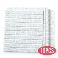 10PCS/Set 3D Waterproof Tile Brick Wall Sticker Self-adhesive Foam Panel US