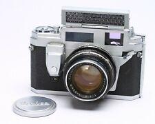 KONICA IIIM 35MM FILM RANGEFINDER CAMERA W/ HEXANON 50MM F/1.8 LENS, CAP