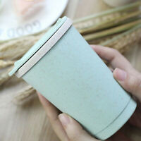 Leakproof Double-wall Insulation Wheat Straw Coffee Tea Cup Travel with Lid GO9Z