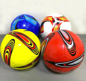 Leather Football Size 5 Soccer Balls 32 panel Traditional Colour PU