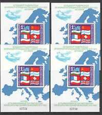 D0584 1982 BULGARIA COOPERATION WITH EUROPE FLAGS !!! 4BL MNH