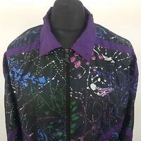 Reebok Womens Vintage Tracksuit Windbreaker PADDED Shell Jacket  LARGE