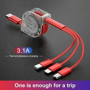 3 in 1 Fast Charging USB Cable Charger Phone Type-C Micro USB iOS ALL Phones