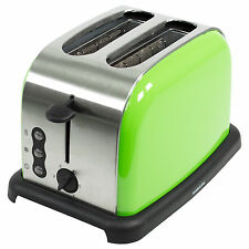 Sabichi Tostapane in acciaio inox Verde Lime 2 Slice ELECTRIC Browning Controllo NUOVO