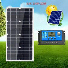Solarmodul Solarpanel 30W 100W 200W Watt 12V USB Solarzelle Wohnwagen Wohnmobil