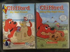 CLIFFORD MY BEST FRIEND & DOING THE RIGHT THING RARE DVD TV SERIES CARTOON SHOW