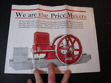 SUPER Advertising Brochure Catalog Poster United Engine Lansing MI Hit Miss 1915