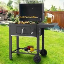 Barbecue Carbone da Giardino BBQ Griglia Grill Carbonella Ripiano e Affumicatore