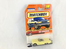 MATCHBOX #16 1957 THUNDERBIRD YELLOW W/ MATTEL WHEELS NOS 96089 NIP