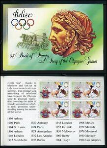 Belize note after Scott #725 MNH BOOKLET OLYMPICS 1984 Los Angeles CV$12+