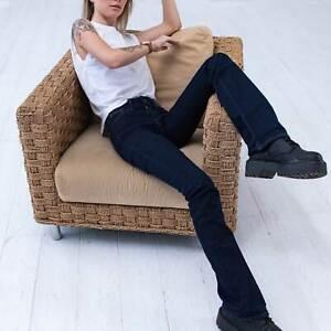Levi's 715 Bootcut Damen Dunkelblau Jeans DE 30 / W23 L34