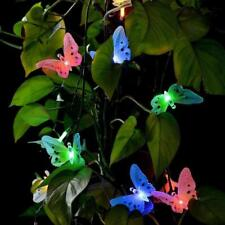 Garden Butterfly Light Outdoor Path Lamp Led Solar Powered Yard Flower Pathway