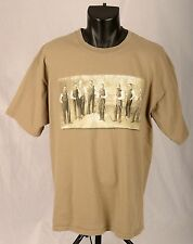WALK SOFTLY and CARRY A BIG STICK Vintage Photo of Gentlemen with Cues Sz L