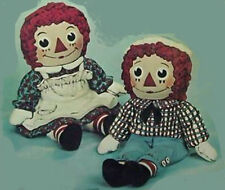 """Ready to Paint Ceramic Bisque Raggedy Ann and Andy """"Vintage"""""""