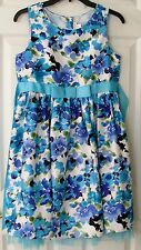 GIRLS DRESS PERFECT FOR EASTER SIZE 14.5 BY EMILY WEST SLEEVELESS BLUE FLOWERED