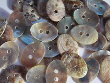 50 x Mother of Pearl Oval Buttons 2 Hole 18x13mm  Sewing,Scrapbooking,Crafts etc