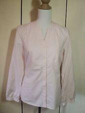 sportscraft  pink white pintripe shirt 10 NWT$129.95 tunic cotton