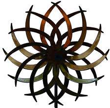 Handcrafted Kinetic Metal Yard Art Double Motion Spinner Natural Made in USA