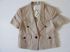 3.1 Phillip Lim Khaki Short Sleeve Cotton Crop Trench Coat Jacket 0
