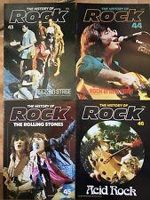 History Of Rock x 4 mags 43-46 Hair! Beatles Sonics Rolling Stones Grateful Dead