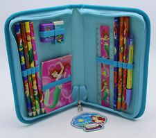 New Disney Ariel 13 Piece Stationery Set with Zippered Case NWT