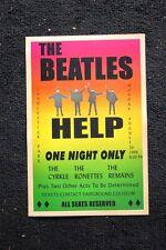 Beatles Tour Poster 1966 Candlestick Park #3 Help
