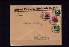 Dt. Reich Infla-Brief von Steinach nach Nürnberg, 11.10.23 (48421