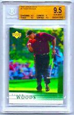 2001 Upper Deck Tiger Woods #1 Rookie RC GEM MINT BGS 9.5 Won the Masters!