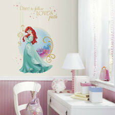Disney PRINCESS ARIEL wall stickers MURAL 2 big decals DARE TO FOLLOW LOVES PATH
